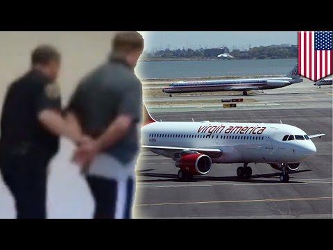乗客が異常行動 飛行機着陸