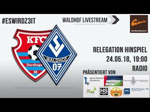 Relegation Hinspiel: KFC Uerdingen - SV Waldhof (Live-Radio)