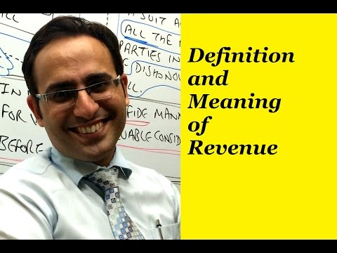 Basic Accounting Terms (Video-7) What is Revenue?