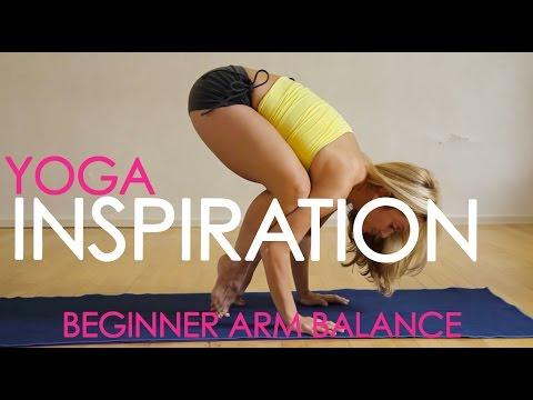 Beginner Yoga Arm Balance: Bakasana with Kino