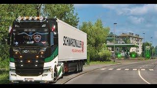 Euro Truck Simulator 2 MP - Scania S730 V8 | Xenon MOD & Custom SOUND V8 Open Pipe |