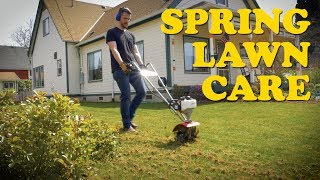 Best Yard in Town! Spring Lawn Care | Dethatching, Aeration, Overseeding, Fertilizing