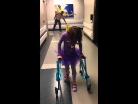 Rachel walking SDR post op day 24