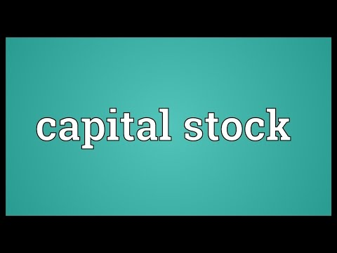 Capital stock Meaning