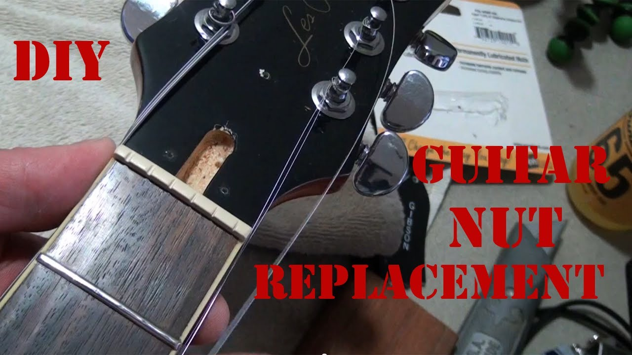 diy how to replace a guitar nut how to install a graphtech tusq xl nut on an epiphone les paul. Black Bedroom Furniture Sets. Home Design Ideas