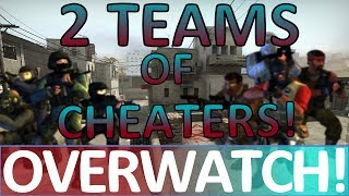 Two FULL Teams of CHEATERS! CS:GO OVERWATCH!