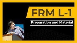 FRM Level 1 | Preparation and Material