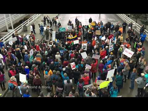Travel Restriction Protest at Portland International Airport