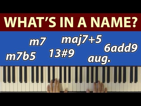What's in a Name? Chord Names vs Chord Functions