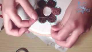 Repeat youtube video تعلم طرز باليد|الدرس الثاني|طرز وردة Moroccan Embroidery: Flower