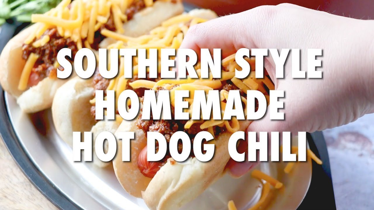 Homemade Hot Dog Chili Video The Country Cook