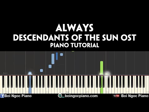 Always - Yoon Mi Rae (Descendants Of The Sun OST)| Piano Tutorial #67 | Bội Ngọc Piano