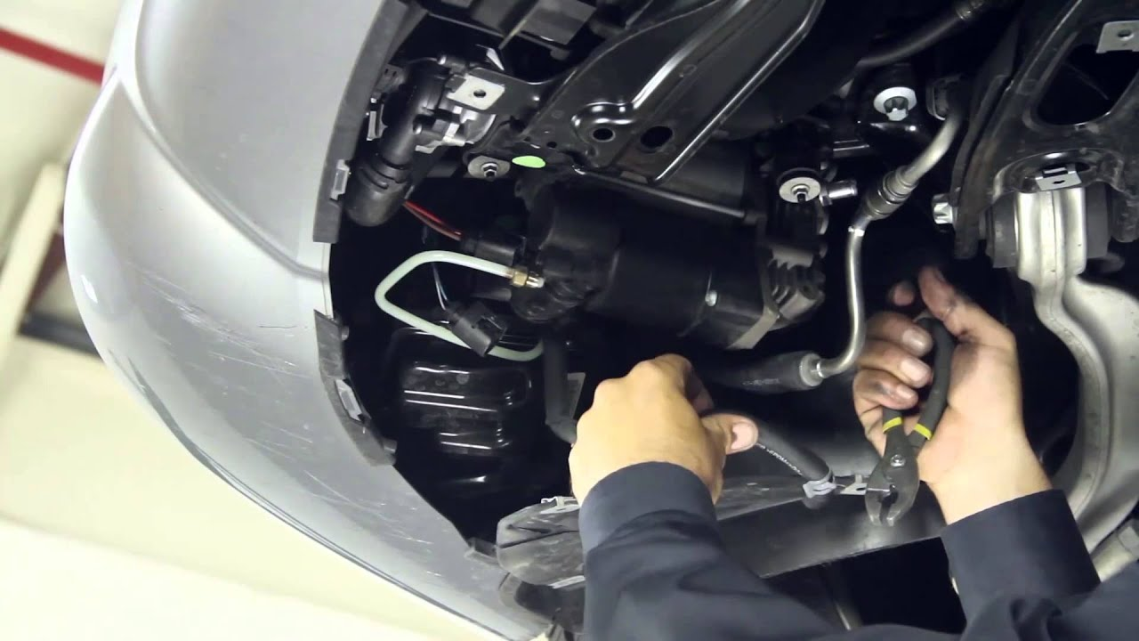How To Install An Arnott P 2593 Air Suspension Compressor In A 2007 2012 S Class Youtube