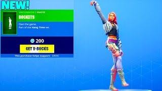 *NEW* BUCKETS EMOTE..! (NEW Item Shop Showcase) Fortnite Battle Royale