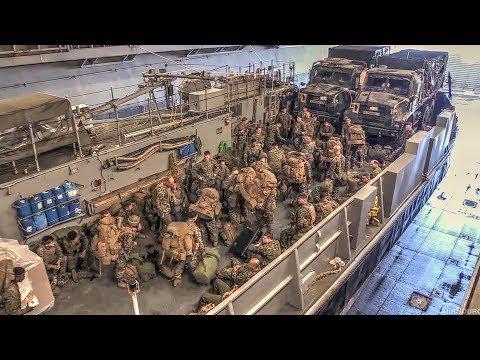 Landing Craft Utility (LCU) Well Deck Ops – Amphibious Assault Ship USS Bonhomme Richard