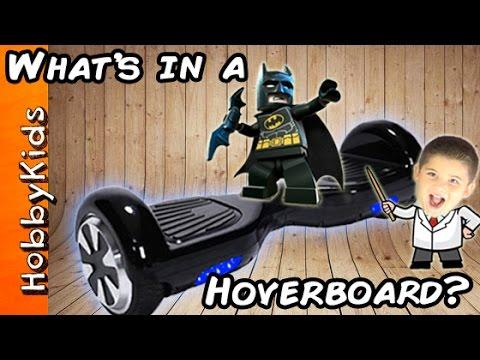 What's INSIDE a HOVERBOARD? Self Balancing Scooter + Batman Gets Upset! HobbyKidsTV