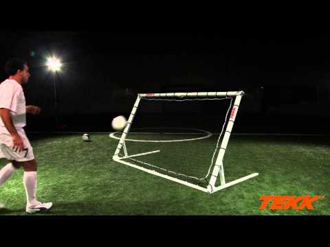 Tekk Trainer Soccer Training  Volley and Instep Drills