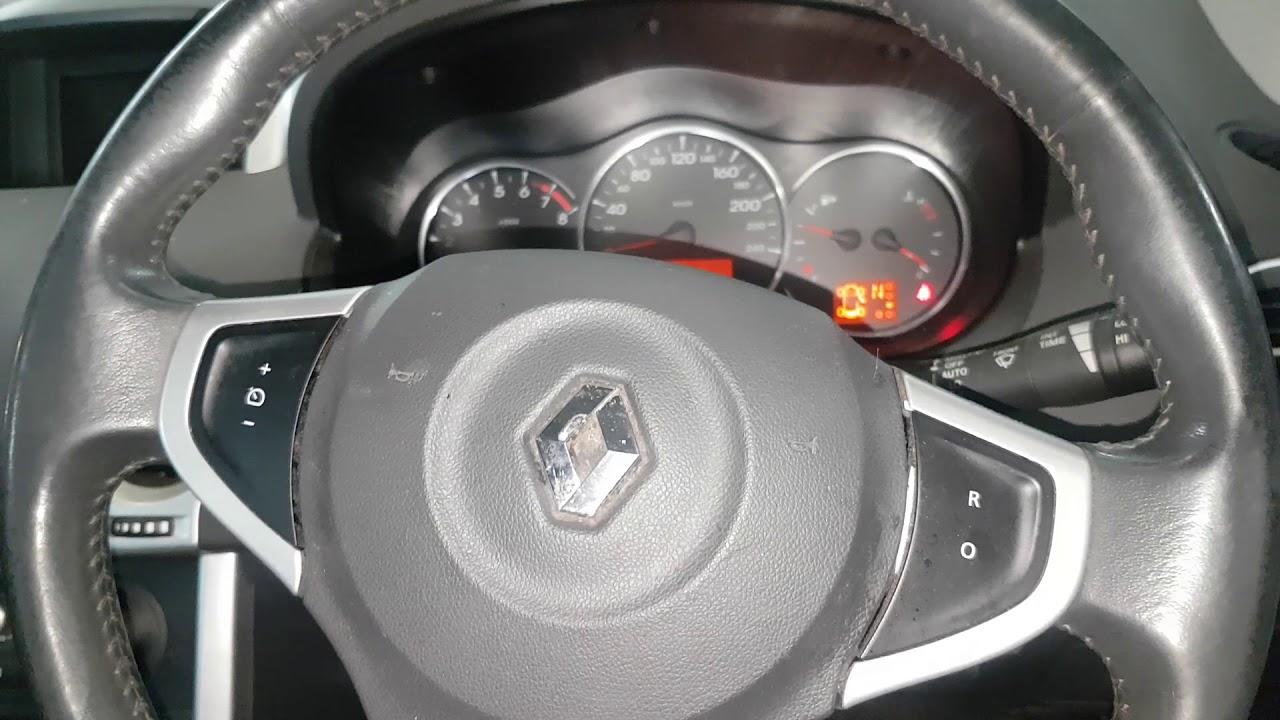 Renault Koleos Service Reset Oil Change Reset Checking Oil Level Via