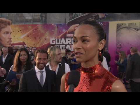 "Guardians of the Galaxy Vol. 2: Zoe Saldana ""Gamora"" Red Carpet Movie Premiere Interview"