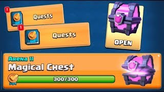 OPENING FIRST MAGICAL CHEST QUEST IN CLASH ROYALE!