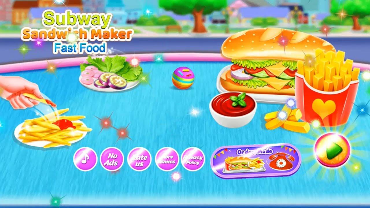 Subway Sandwich Maker: Fast Food Games