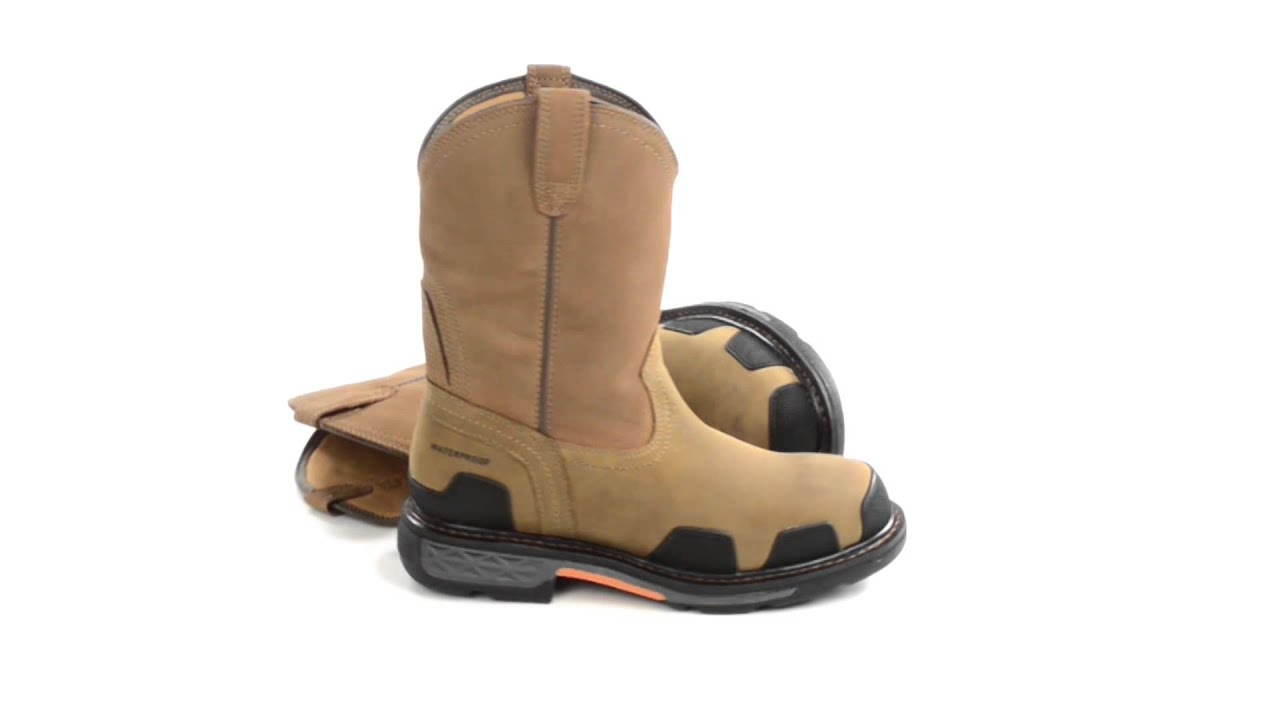Ariat OverDrive Western Work Boots - Waterproof (For Men) - YouTube