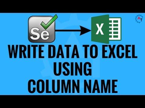 Write Data To Excel Using Column Name