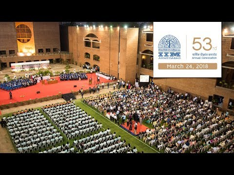 Live Telecast of 53rd Annual Convocation of IIM Ahmedabad