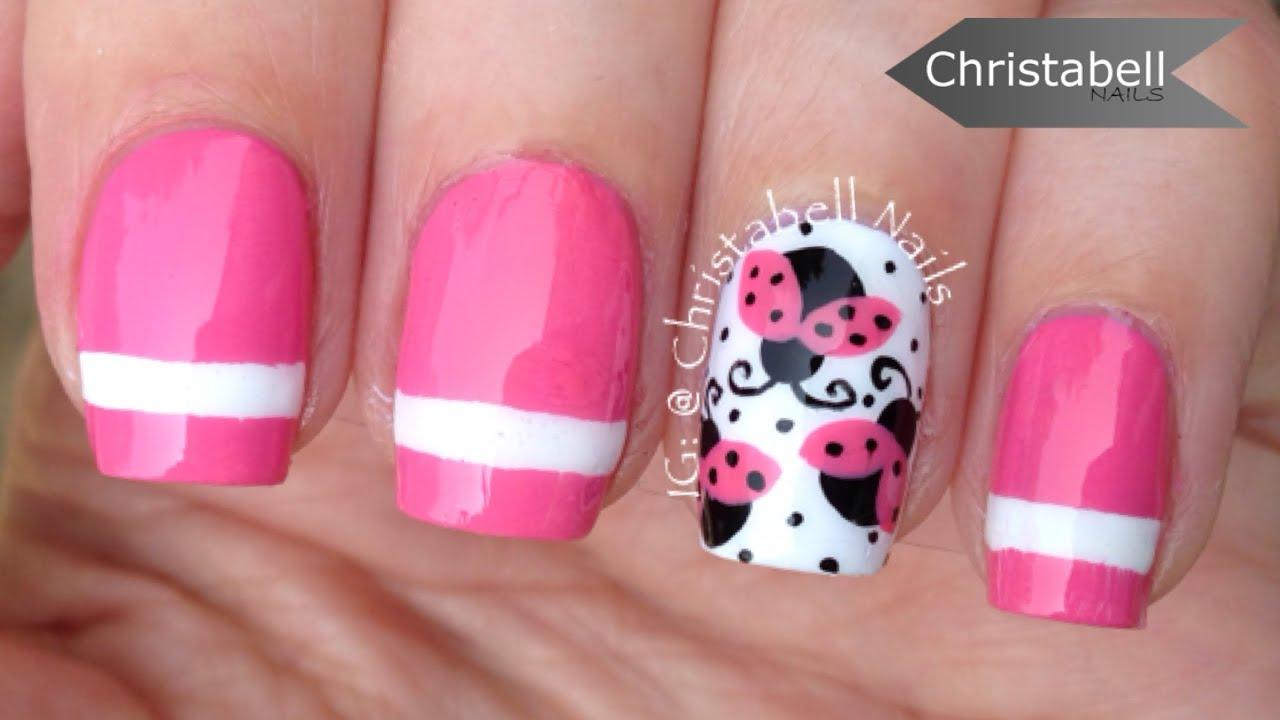 christabellnails ladybug nail art