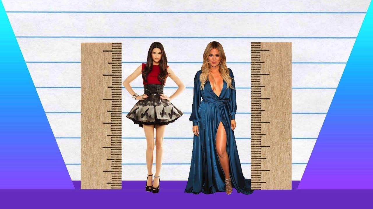 How Much Taller? - Kendall Jenner vs Khloe Kardashian ...