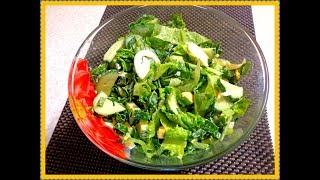 Весенний салатик из листьев салата