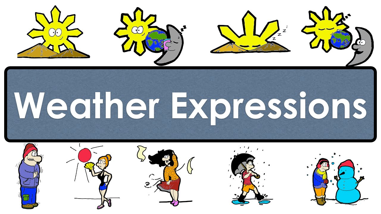 weather expressions easy english conversation practice esl