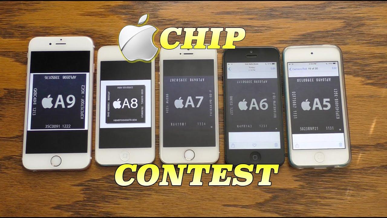 Apple A9 chip vs A8 vs A7 vs A6 vs A5   Chip Contest (Ep 1)