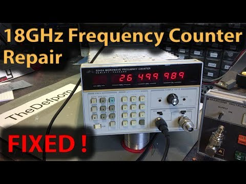 #255 HP 5342A 18GHz Microwave Frequency Counter Repair   Unit 2