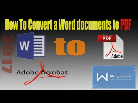 How To Convert A Word Documents To PDF Free Download Wps