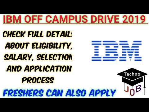 IBM Off Campus Drive 2019 | B E/B Tech/MCA | Apply online