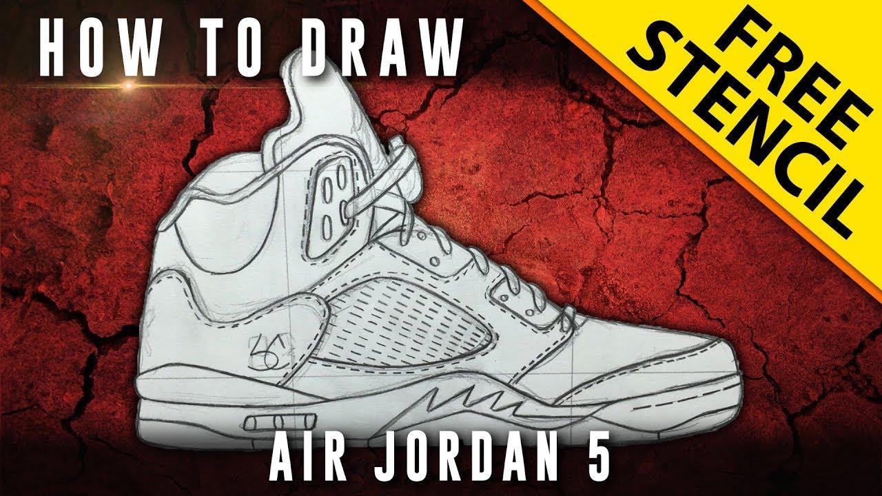 5 Jordan Stencil To How Downloadable DrawAir w kXiPZu