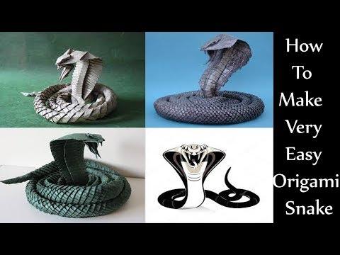 How To Make Origami Snake | Origami: King Cobra Snake | how to make an origami snake |  handcraft
