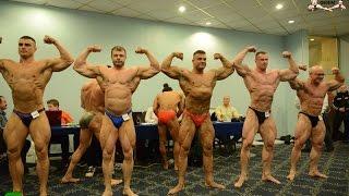 Чемпионат Москвы по бодибилдингу 2015, взвешивание и регистрация