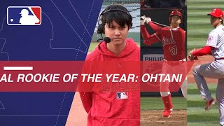 Ohtani named AL Rookie of the Year