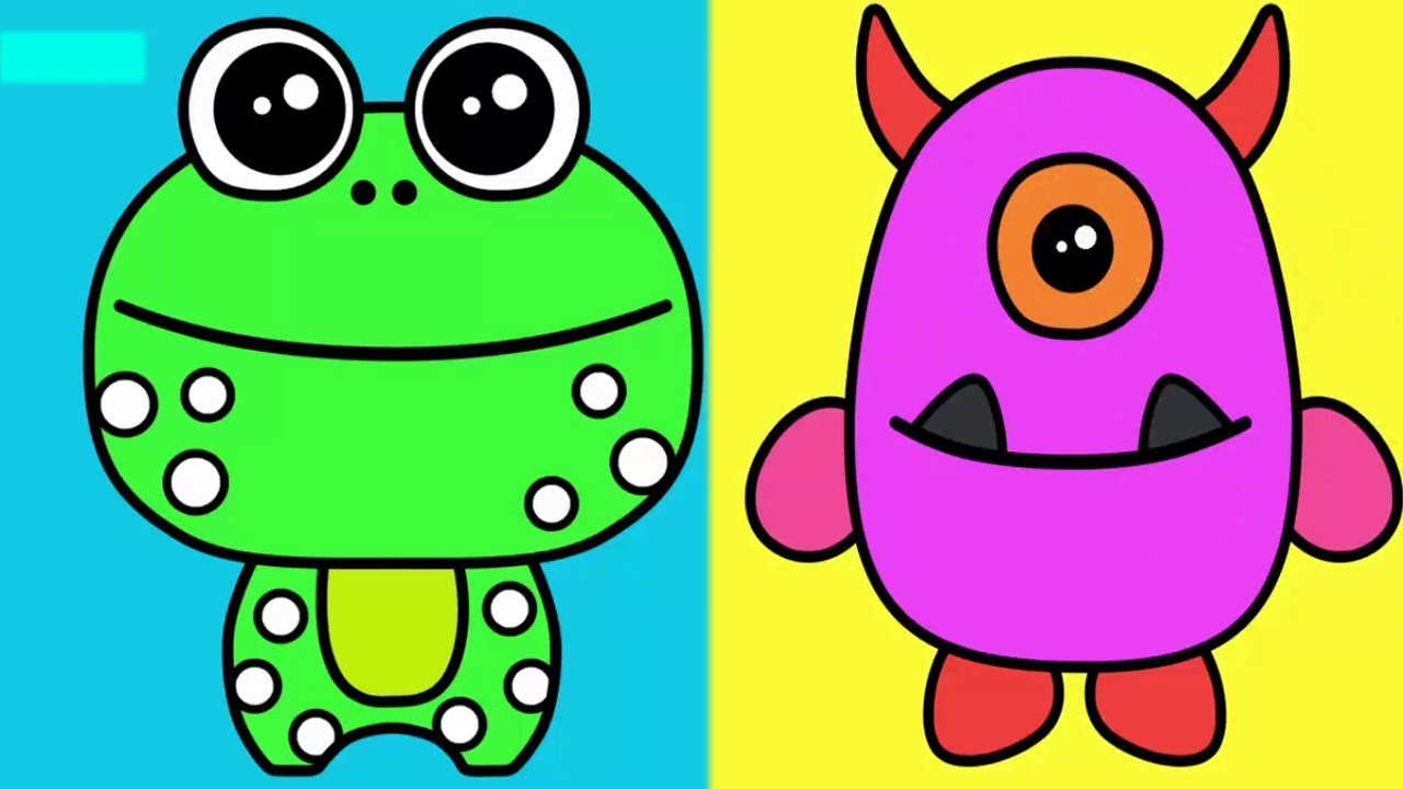 Animals Vs Aliens Coloring For Kids - Play Doh Colors - Preschool ...