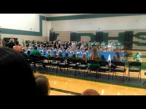 Pep rally at Lake Dallas high school 2015