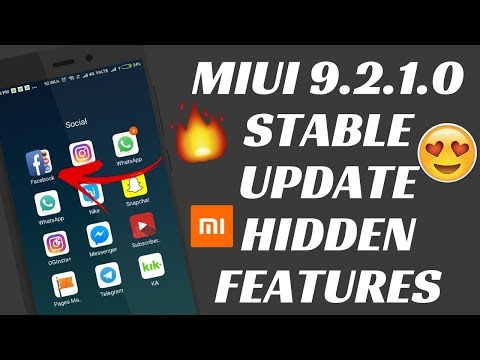 BUGS AND HIDDEN NEW FEATURES IN MIUI 9.2.1.0 GLOBAL STABLE UPDATE | MIUI 9 GLOBAL STABLE UPDATE
