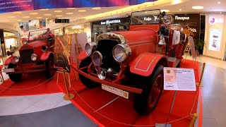 ⁴ᴷ⁵⁰ Walking Moscow: Fire Trucks Exhibition in the Shopping Mall (Voykovskaya Metro Station)