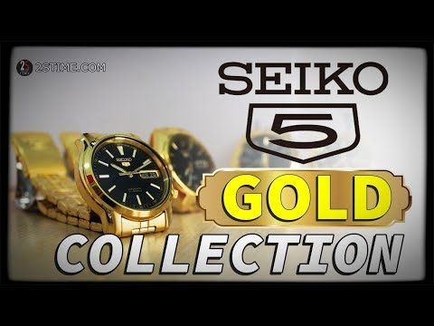 SEIKO 5 Series GOLD Collection - Elegant Dress Watch Under 200$