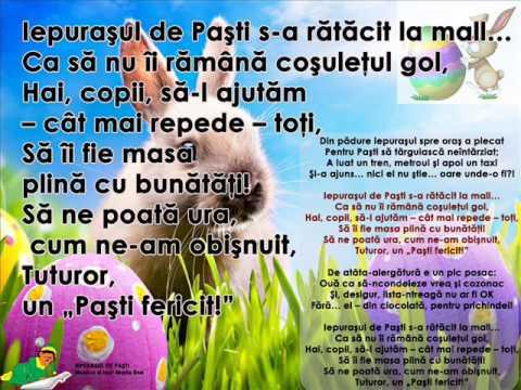 IEPURAȘUL DE PAȘTI – Cantece pentru copii in limba romana