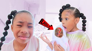 Ugly Baby! Sefari Calls Sekora's New Baby Ugly | Funny Kids Skit