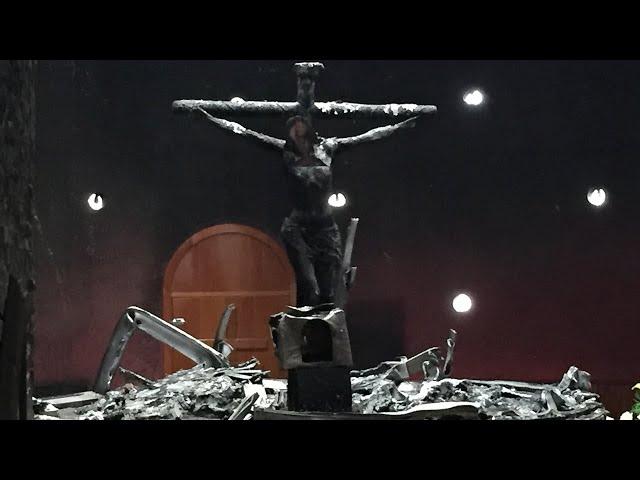 """Un año del """"acto terrorista"""" contra la Catedral de Managua"""