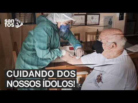 #SANTOS REALIZA TESTES DE COVID-19 EM ÍDOLOS ETERNOS