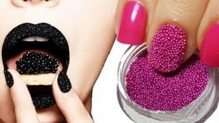 Caviar Nails DIY / Икорный 3D маникюр
